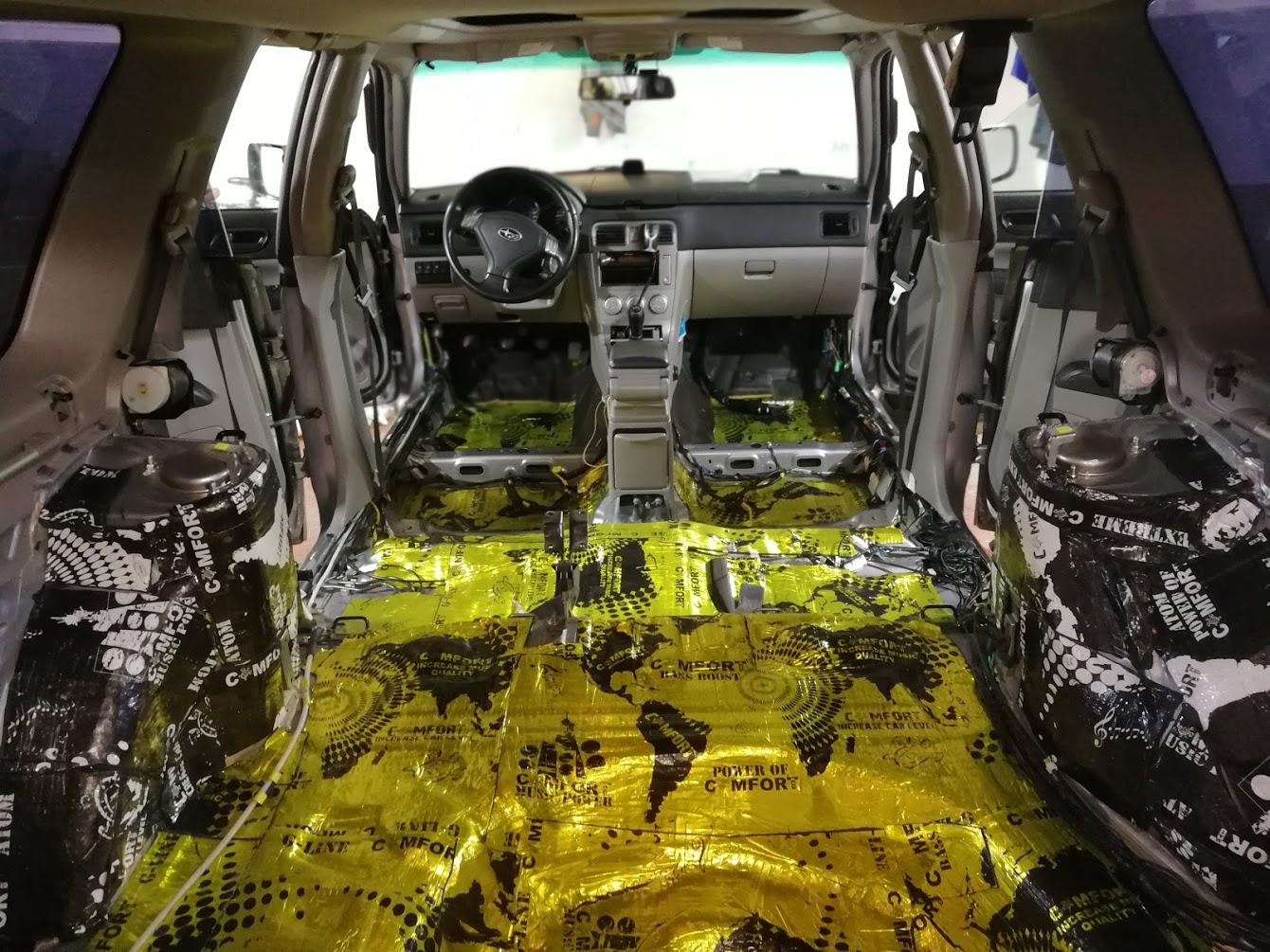 Шумоизоляция багажника Subaru Forester (Субару Форестер)