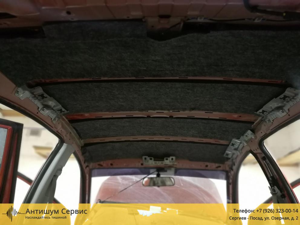 Шумоизоляция крыши Kia Rio 2 (Киа Рио 2)
