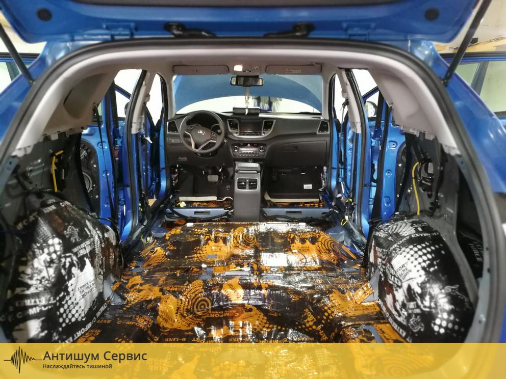 Шумоизоляция пола Hyundai Tucson 3 (Хендай Туссан)
