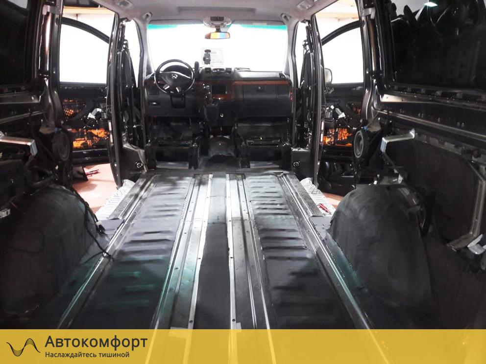 Шумоизоляция пола Mercedes Benz Viano / Vito W639 (Вито / Виано)
