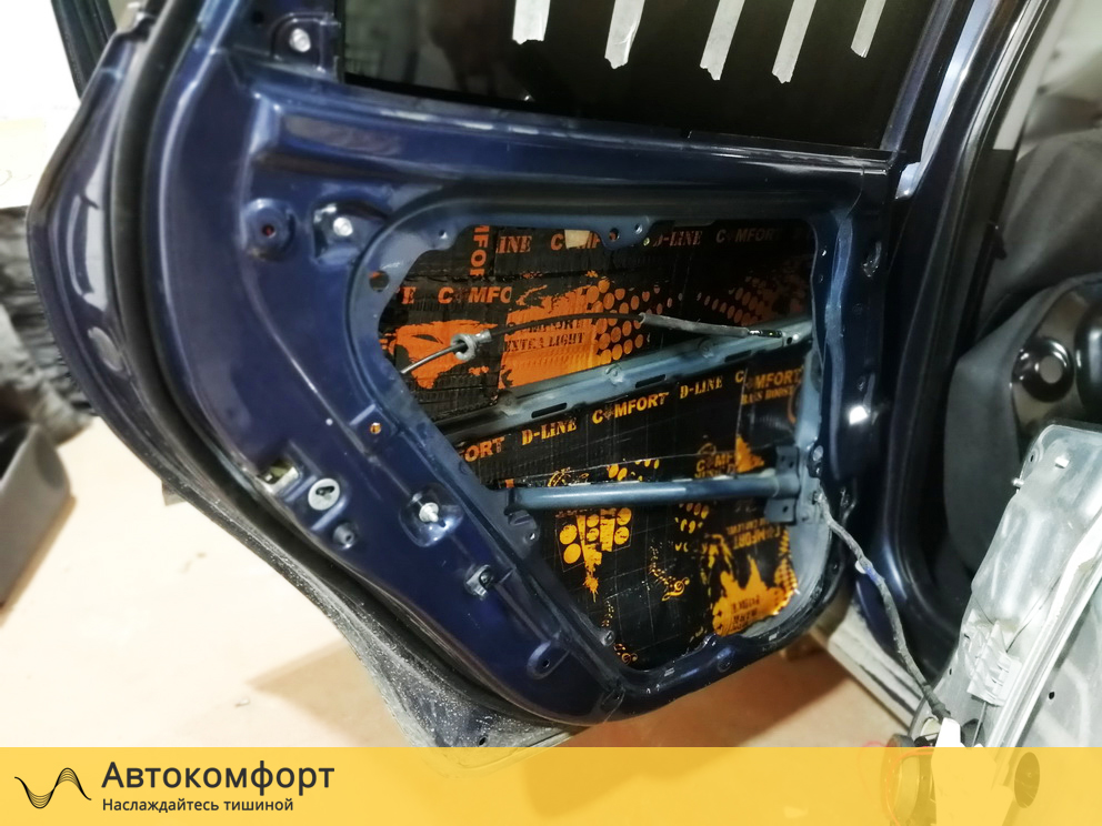 Шумоизоляция дверей Skoda Octavia A5