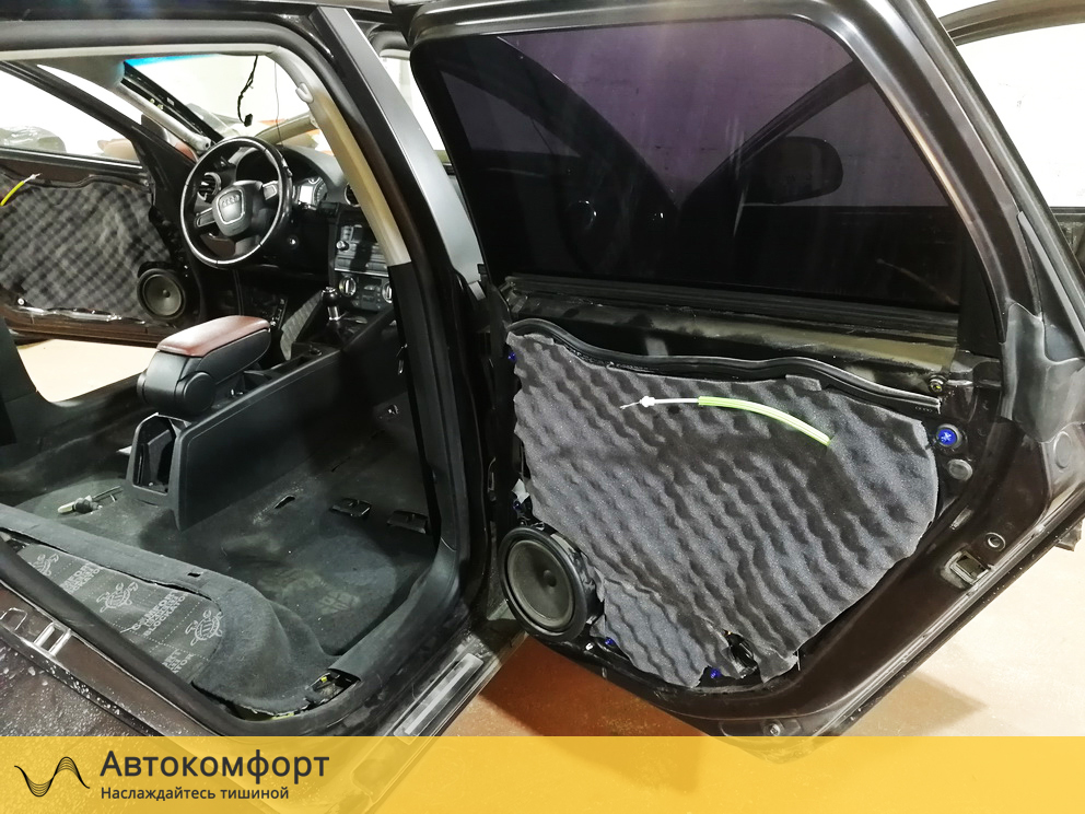 Шумоизоляция дверей Audi A3 (Ауди А3)
