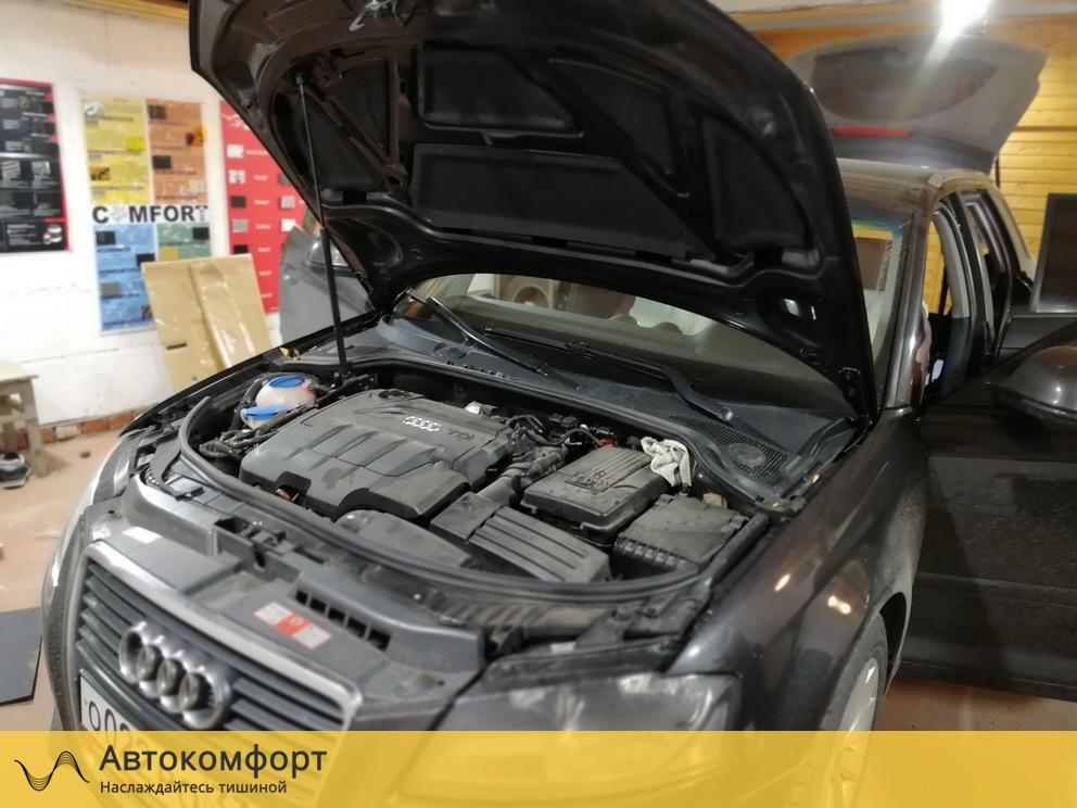 Шумоизоляция капота Audi A3 (Ауди А3)