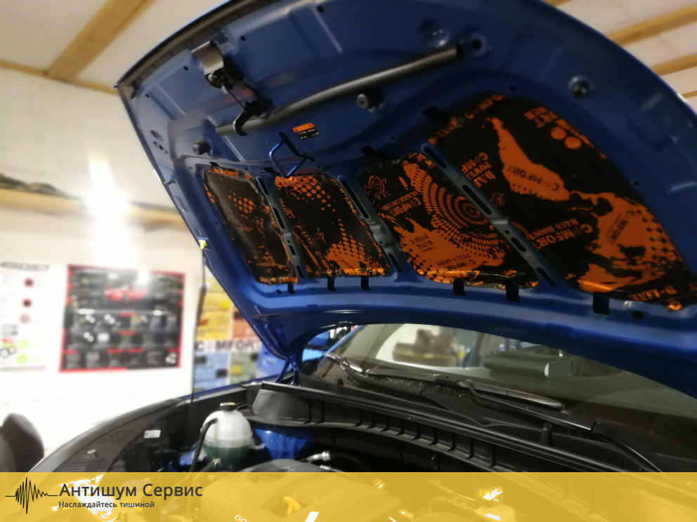 Шумоизоляция капота Hyundai Tucson 3 (Хендай Туссан)