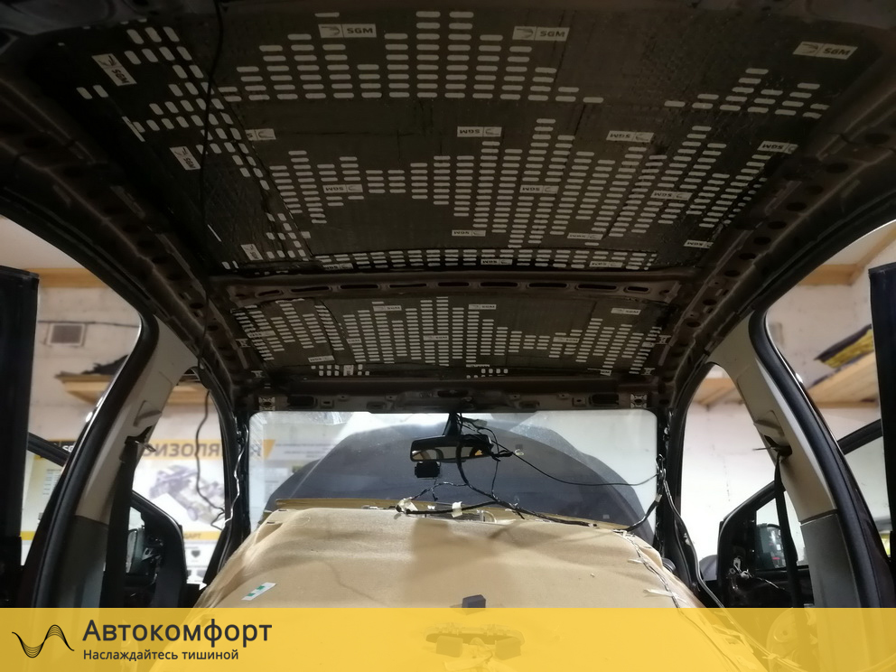 Шумоизоляция крыши Ford Focus 2 (Форд Фокус 2)