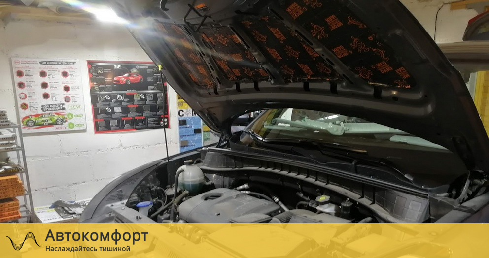 Шумоизоляция капота Volkswagen Passat CC (Фольксваген Пассат СС)