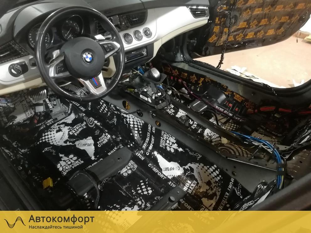 Шумоизоляция пола (днища) BMW Z4 E89 (БМВ Е89)
