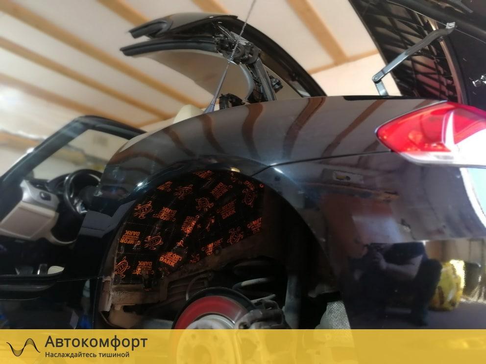 Шумоизоляция колесных арок снаружи BMW Z4 E89 (БМВ Е89)