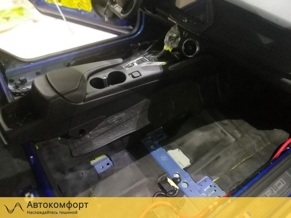 Шумоизоляция пола (днища) Chevrolet Camaro 2019 (Шевроле Камаро)