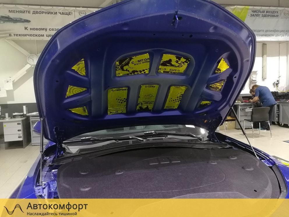 Шумоизоляция капота Chevrolet Camaro 2019 (Шевроле Камаро)