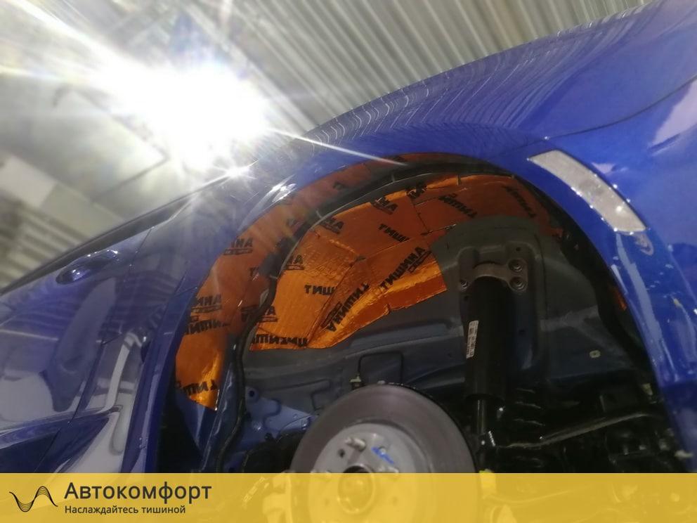 Шумоизоляция колесных арок Chevrolet Camaro 2019 (Шевроле Камаро)