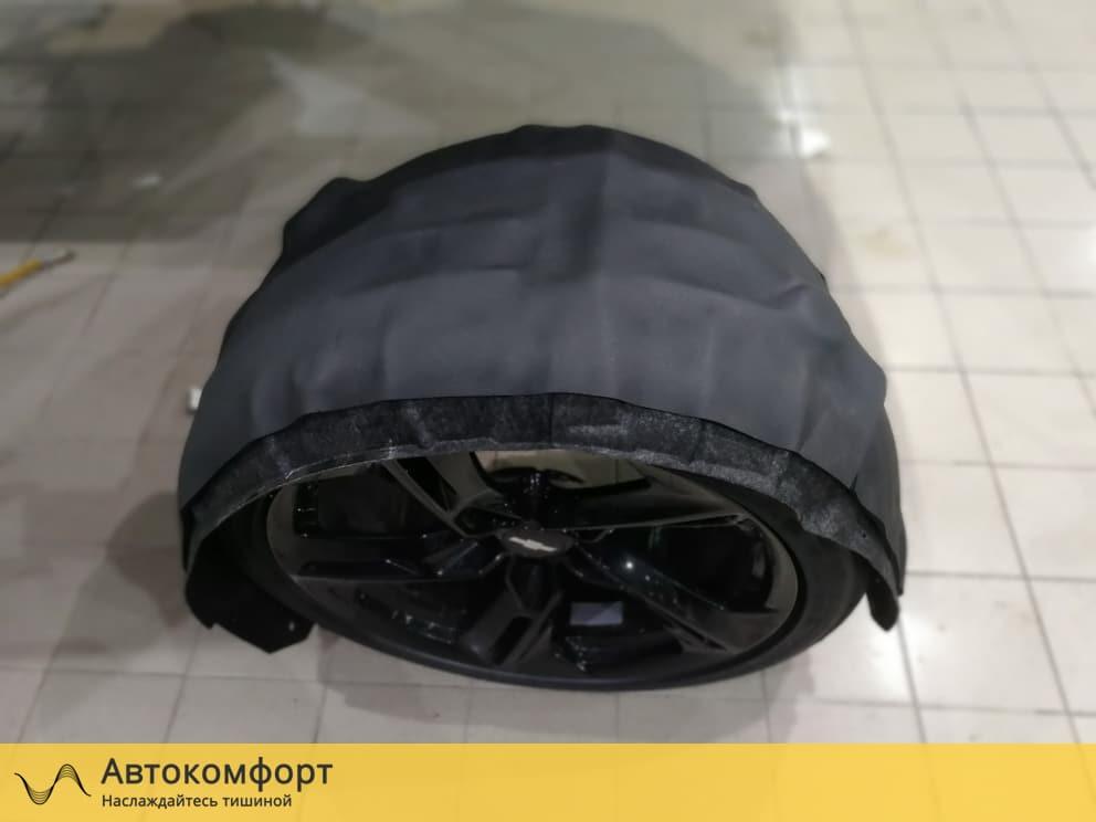 Шумоизоляция подкрылок (локеров) Chevrolet Camaro 2019 (Шевроле Камаро)