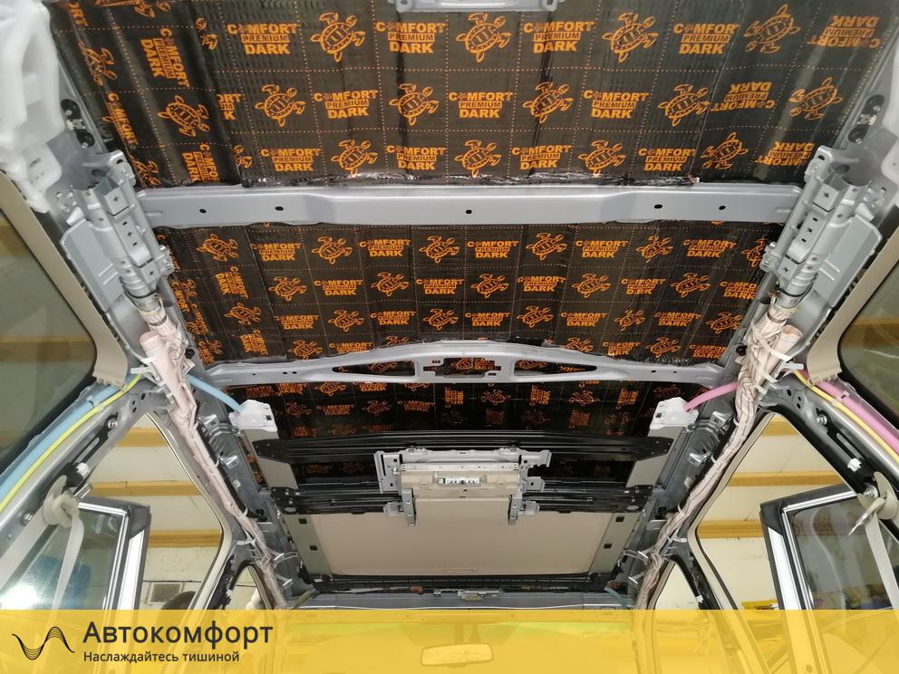 Шумоизоляция крыши (потолка) Land Cruiser Prado 150 Дорестайлинг