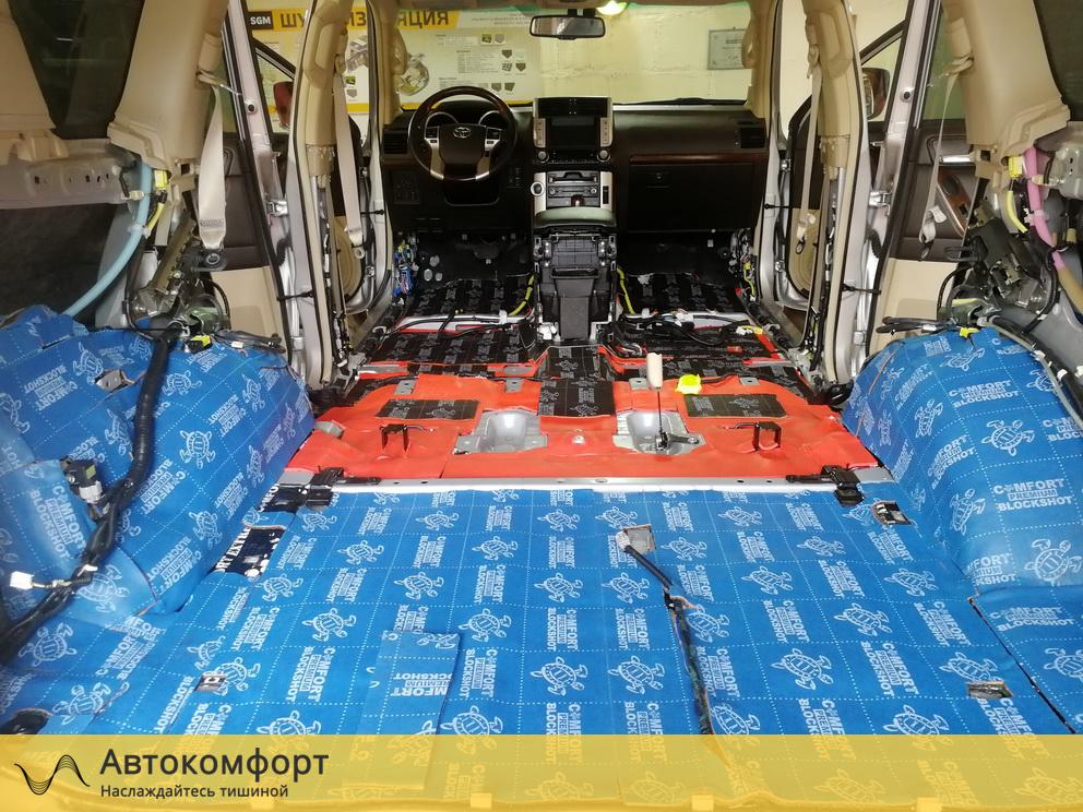 Шумоизоляция багажника Land Cruiser Prado 150 Дорестайлинг