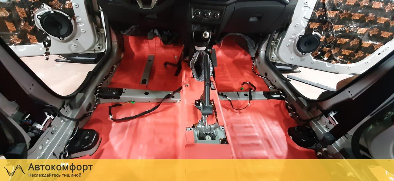 Шумоизоляция пола (днища) Lada XRay (Лада Х Рей)