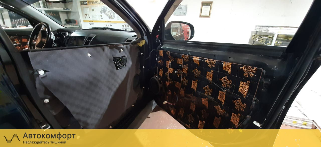 Шумоизоляция дверей Mitsubishi Outlander XL (Аутлендер XL)