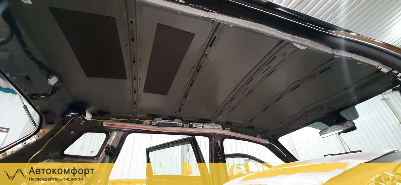 Шумоизоляция потолка (крыши) Geely Atlas