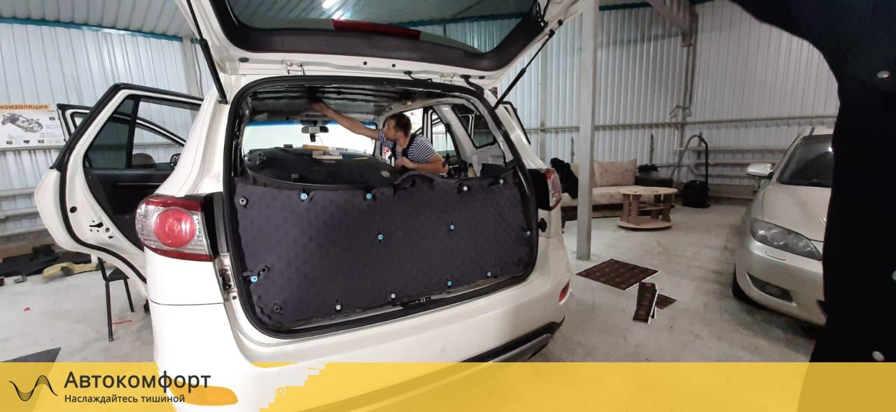 Шумоизоляция крышки багажника Hyundai Santa Fe II (Санта Фе 2)
