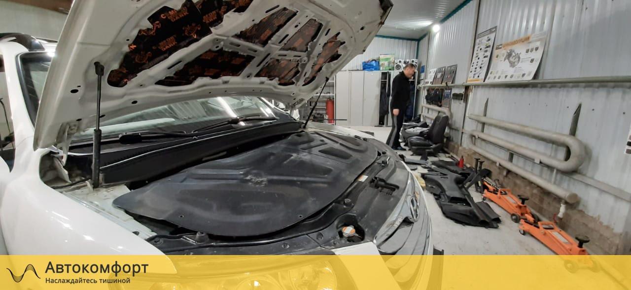 Шумоизоляция капота Hyundai Santa Fe II (Санта Фе 2)