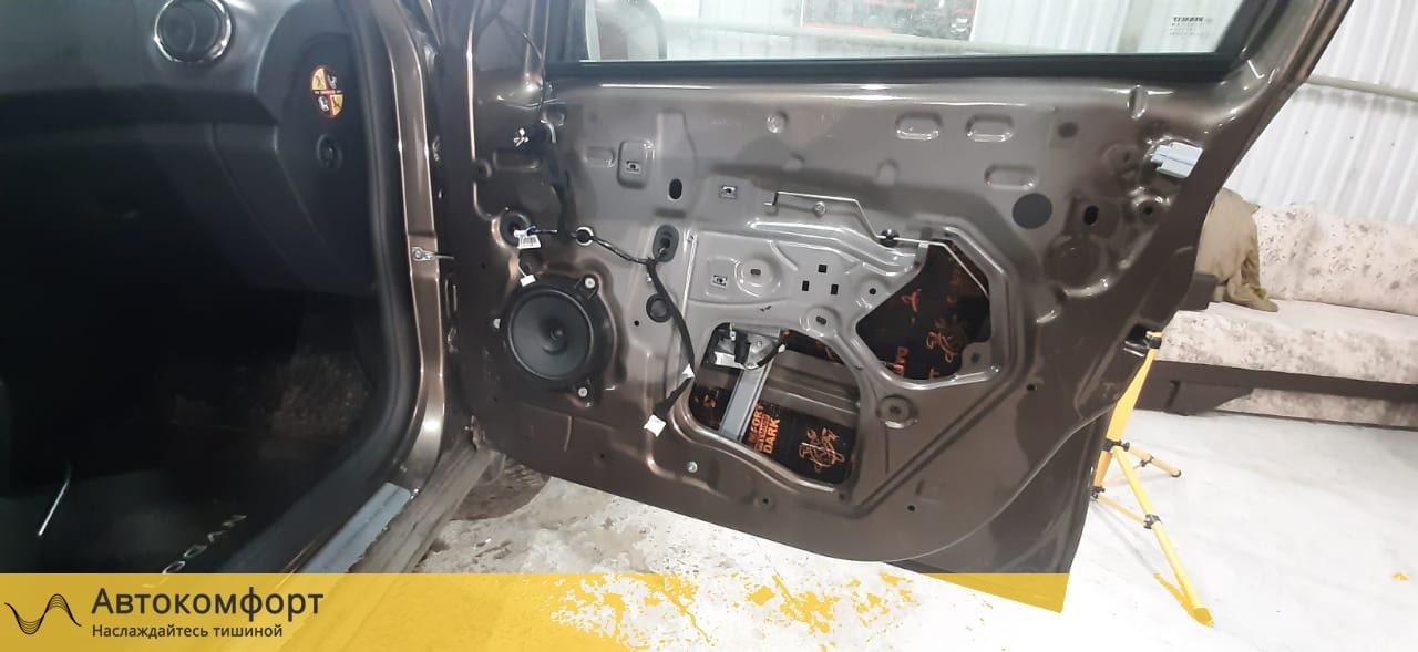 Шумоизоляция дверей Renault Logan 2