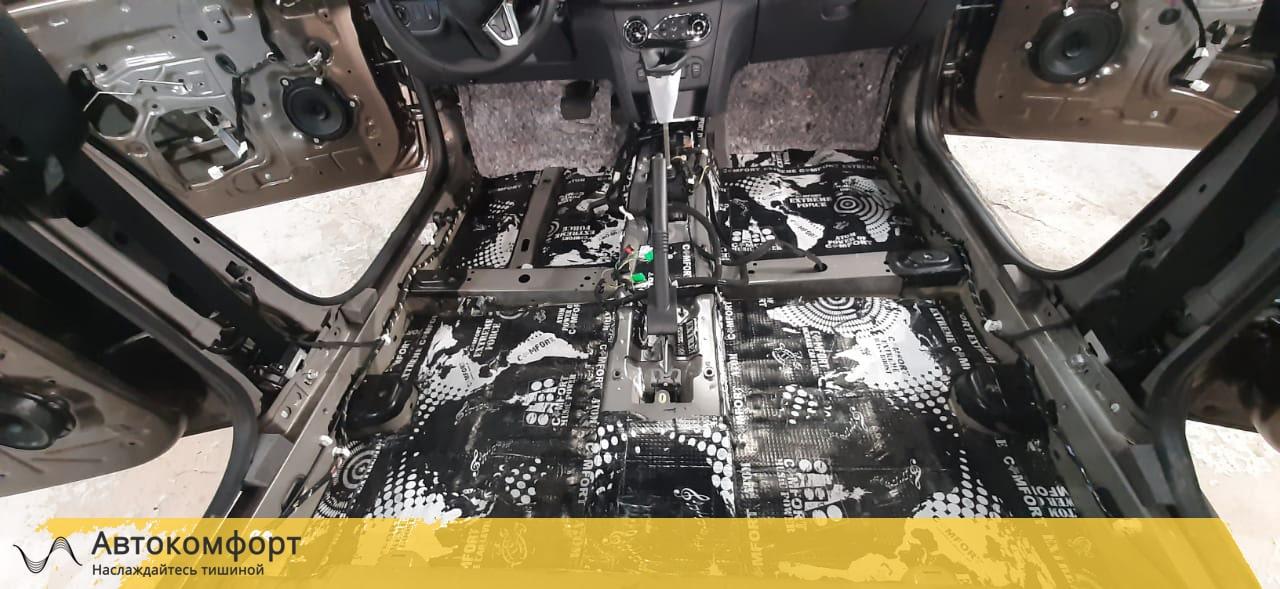 Шумоизоляция пола (днища) Renault Logan 2