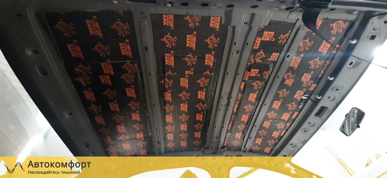 Шумоизоляция крыши (потолка) Renault Logan 2