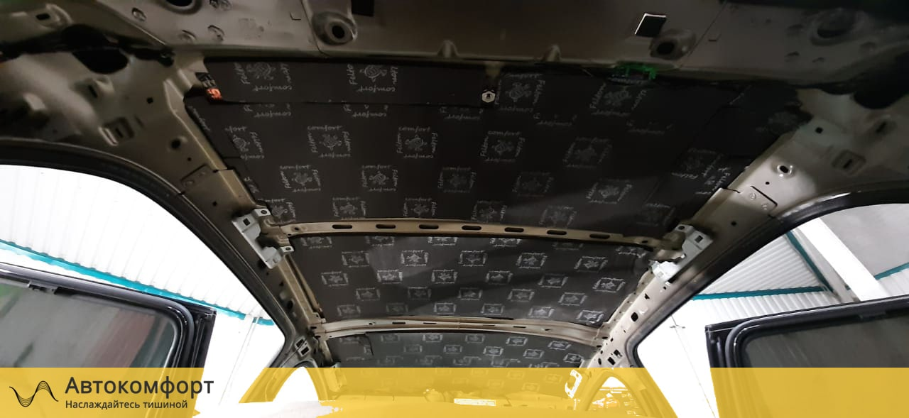 Шумоизоляция крыши (потолка) Skoda Superb MK2