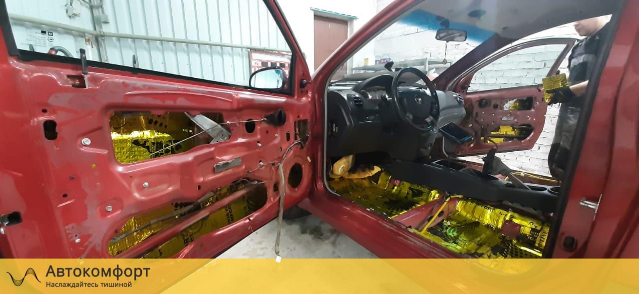 Шумоизоляция дверей Chevrolet Aveo T250/T300