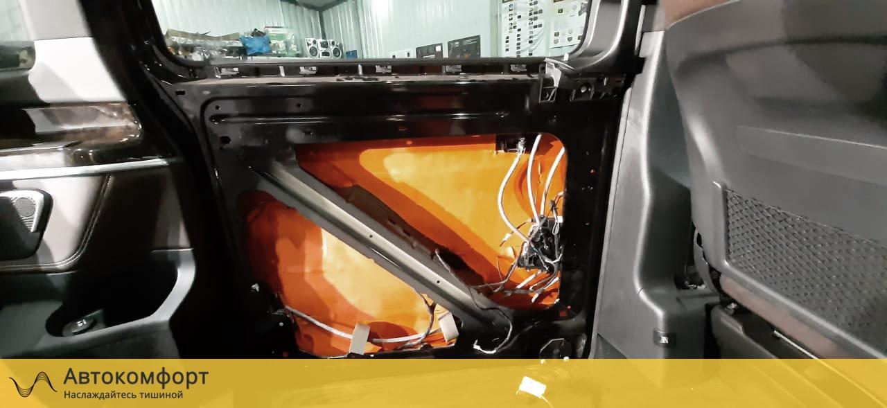 Шумоизоляция задних сдвижных дверей Mercedes Benz V Class W447 (В Класс)
