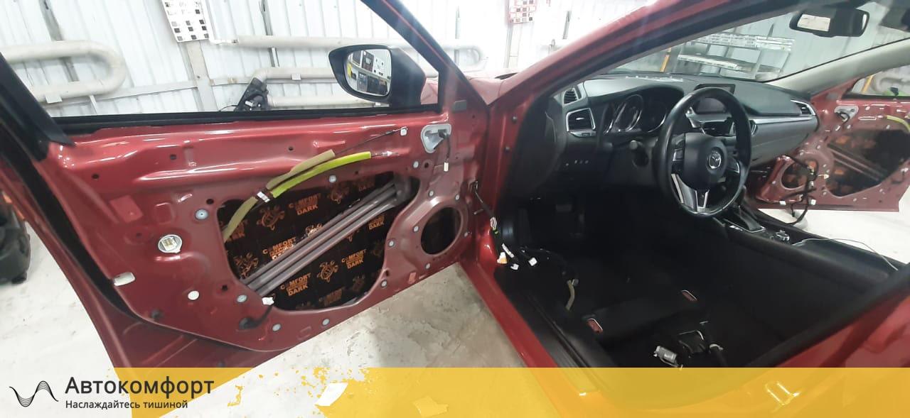 Вибро изолируем двери Mazda 6 GJ 3 поколения