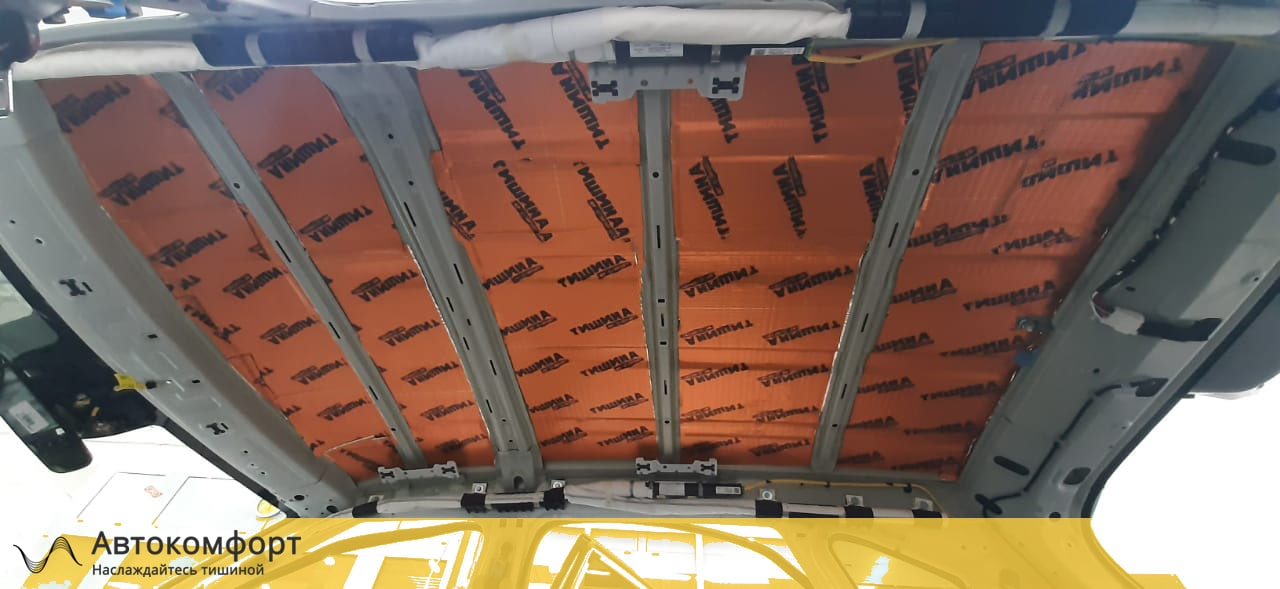 Шумоизоляция крыши (потолка) KIA Seltos | Киа Селтос