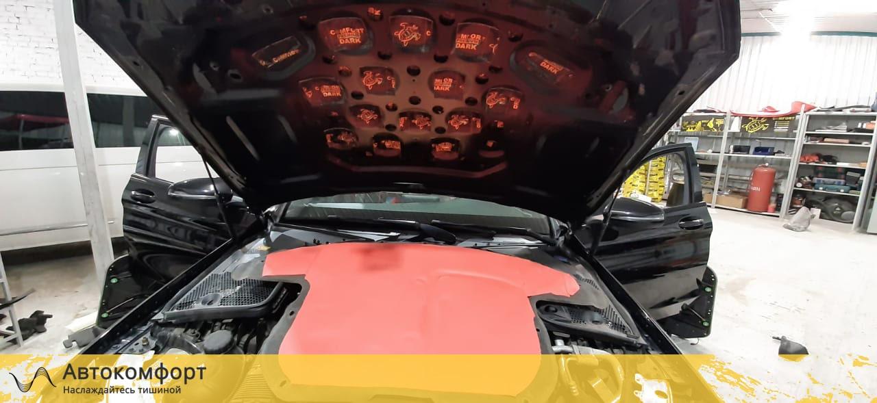 Шумоизоляция капота Mercedes C Class W205 (Ц класс)