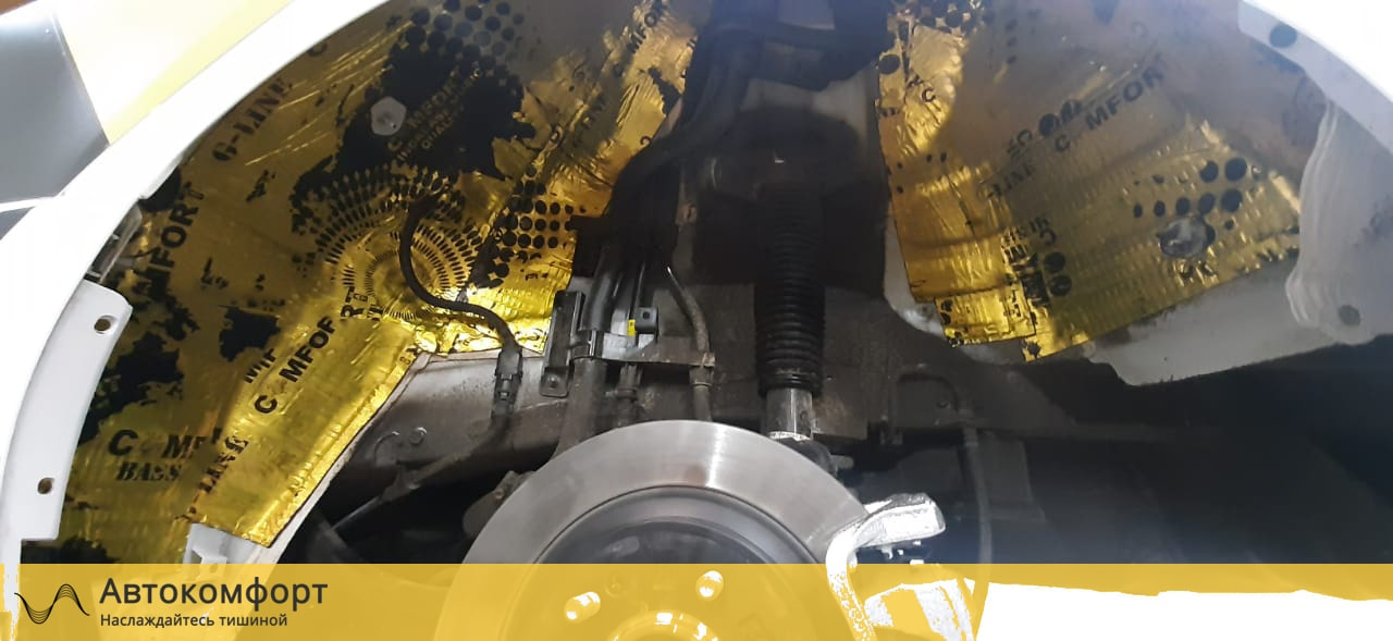 Шумоизоляция арок и подкрылок Hyundai Sonata 8 DN8 | Хендай Соната 8