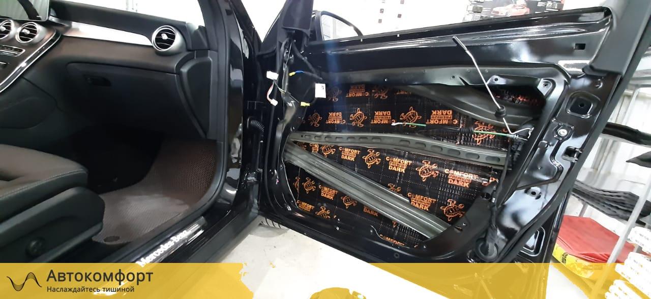 Шумоизоляция дверей Mercedes GLC Coupe X253 / C253 | Мерседес ГЛЦ Купе