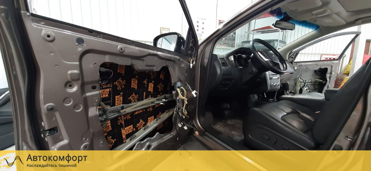 Шумоизоляция дверей Nissan Murano Z51 | Ниссан Мурано З51