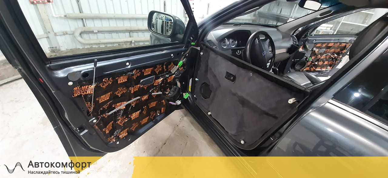 Шумоизоляция дверей Volvo XC90   Вольво ХС90