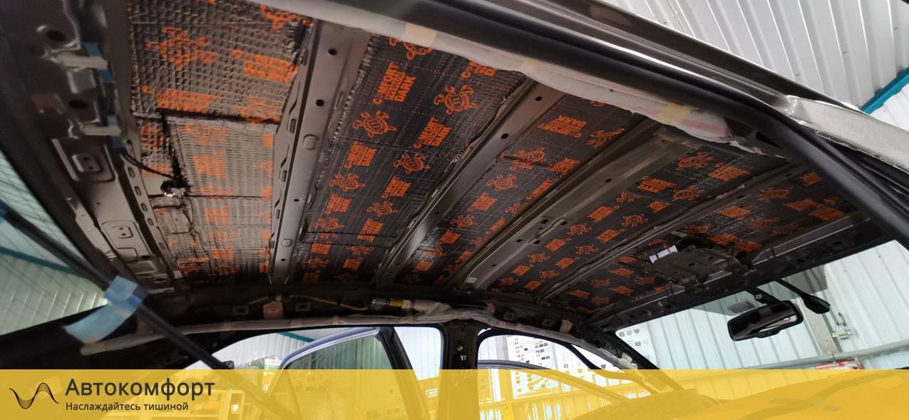 Шумоизоляция крыши (потолка) Toyota Corolla E160 | Тойота Королла Е160