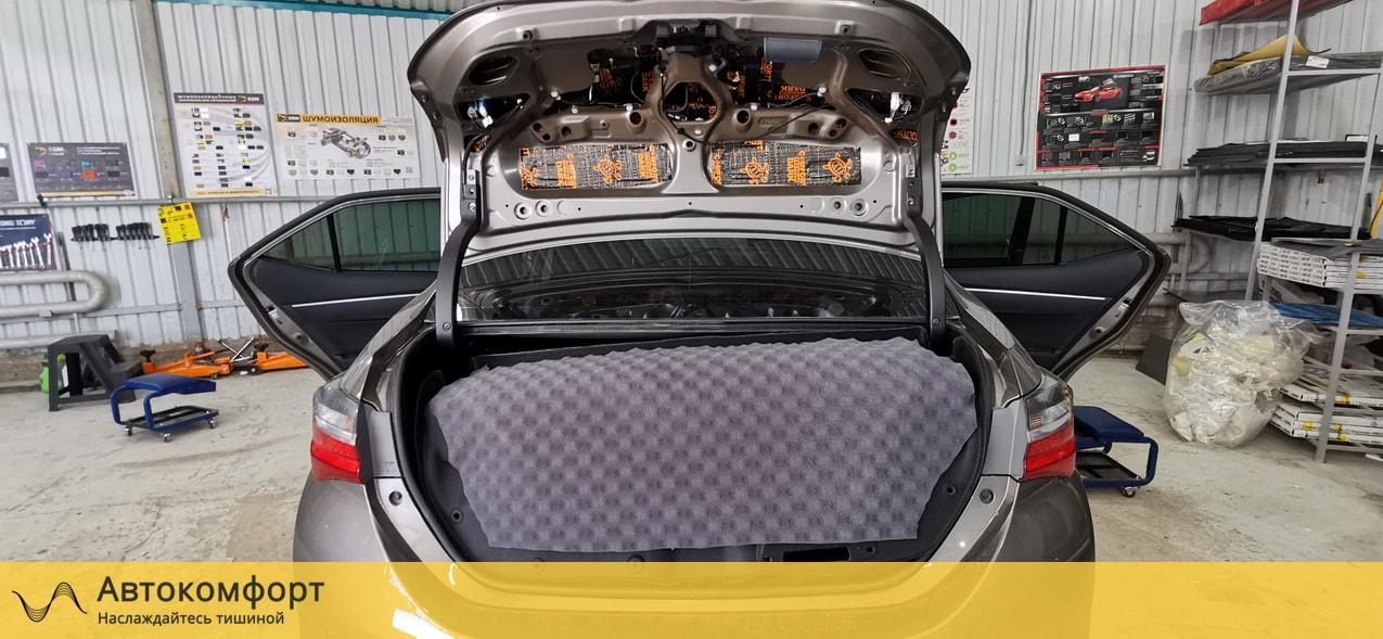 Шумоизоляция багажника Toyota Corolla E160 | Тойота Королла Е160