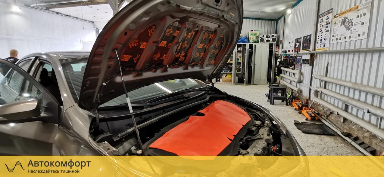 Шумоизоляция капота Toyota Corolla E160 | Тойота Королла Е160