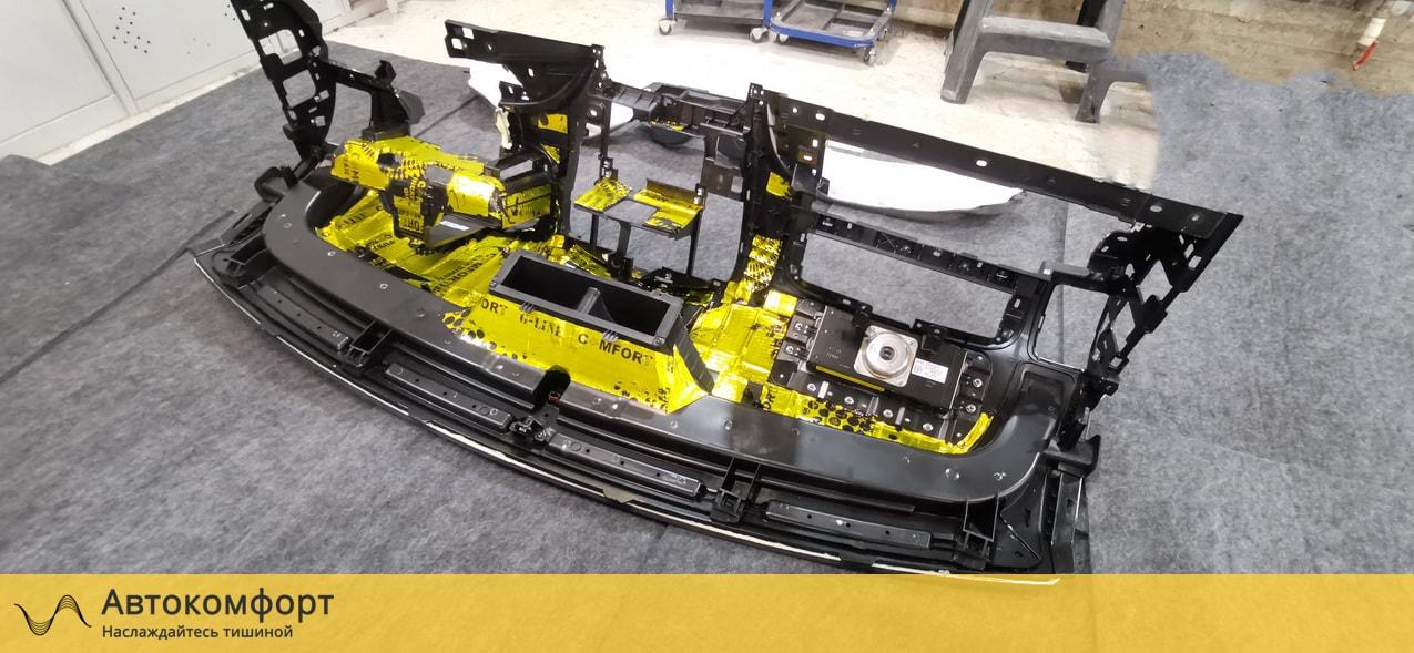 Шумоизоляция моторного щита и торпедо Hyundai Grand Starex H-1 | Хендай Гранд Старекс Х1 | Н1