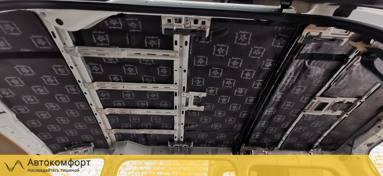 Шумоизоляция крыши (потолка) Hyundai Grand Starex H-1 | Хендай Гранд Старекс Х1 | Н1