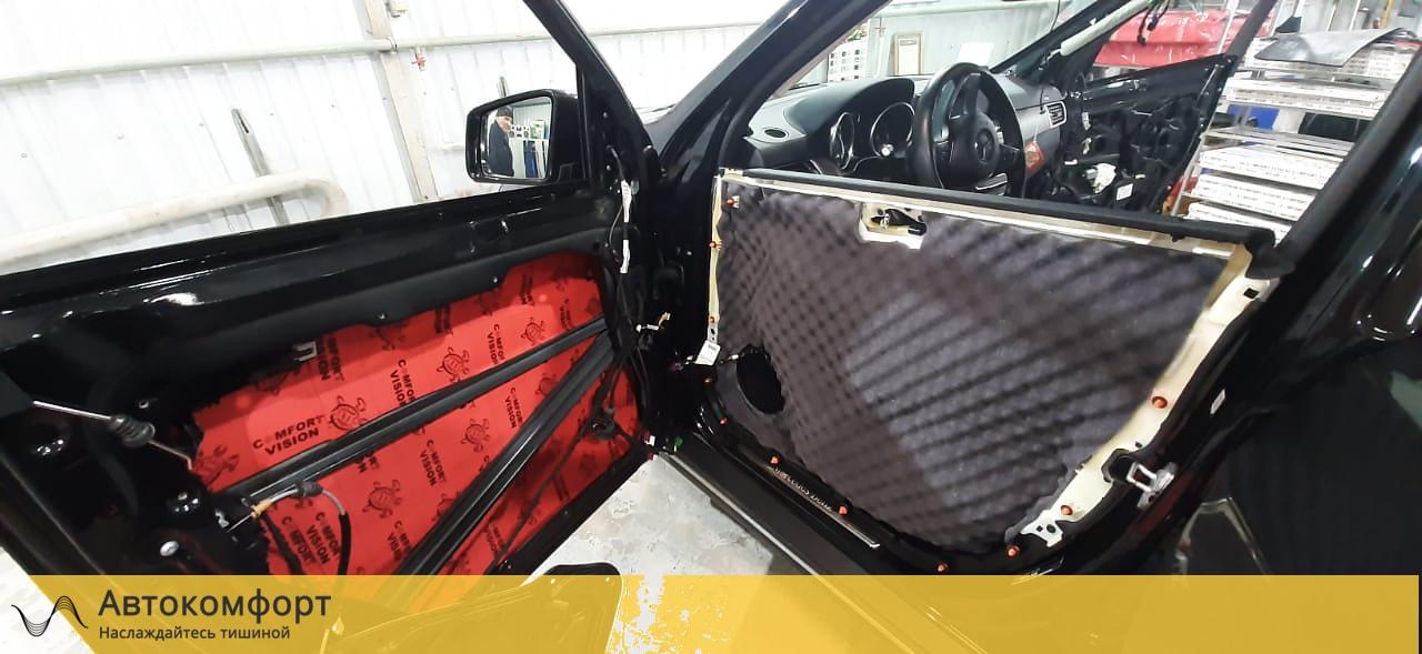 Шумоизоляция дверей Mercedes GLE W166 | Мерседес ГЛЕ