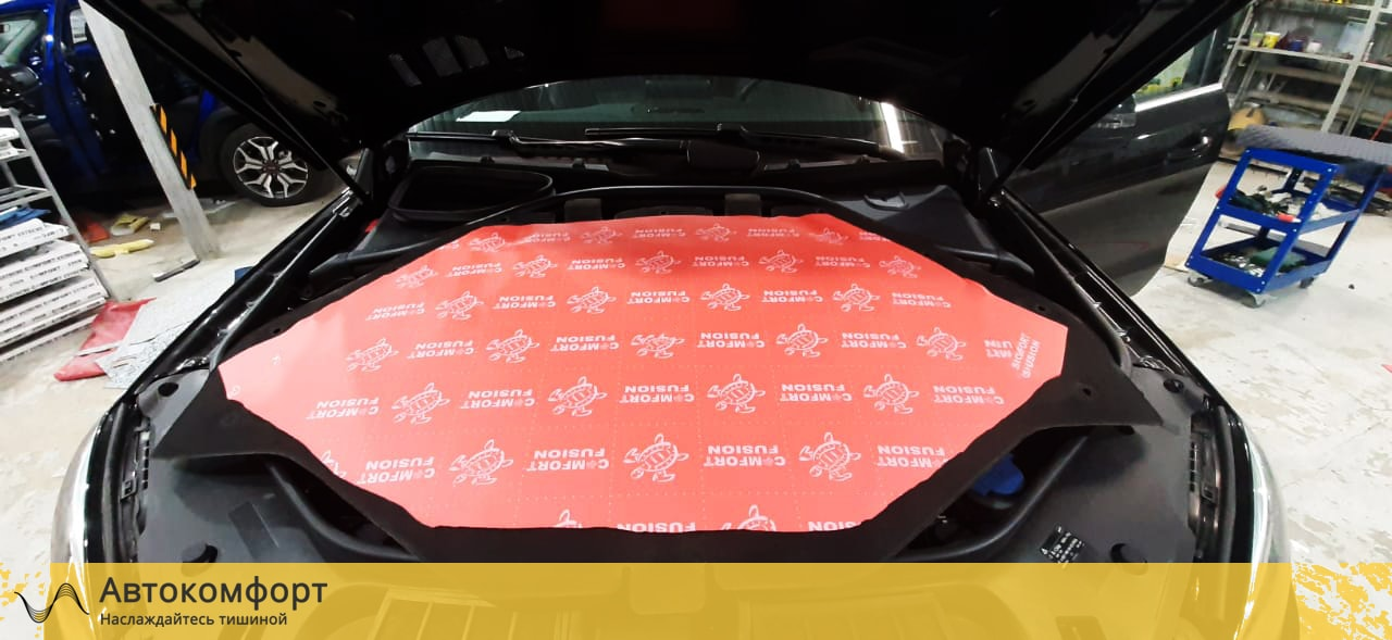 Шумоизоляция капота Mercedes GLE W166 | Мерседес ГЛЕ