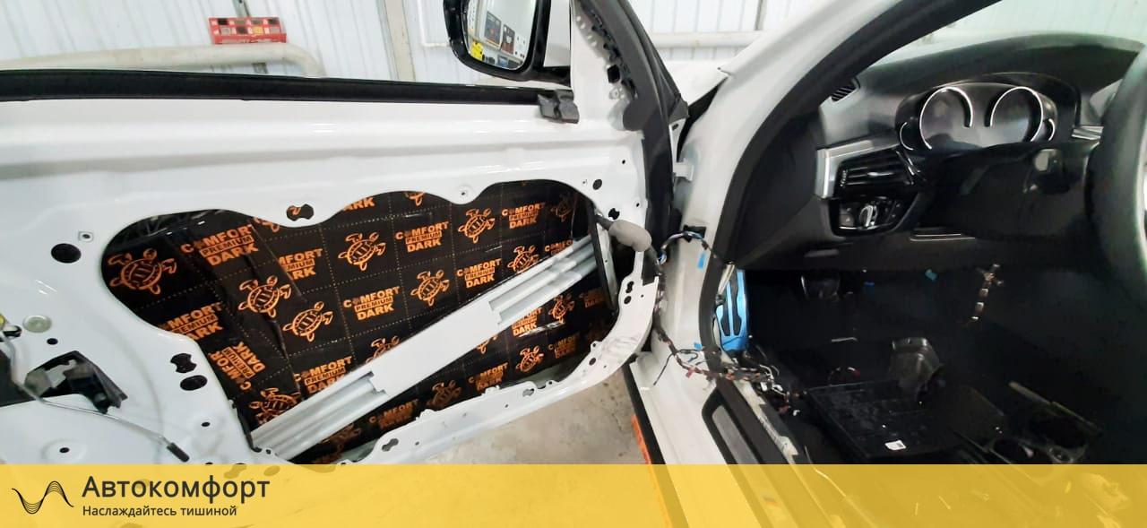 Шумоизоляция дверей BMW 5 series G30 (5 серии Г30)