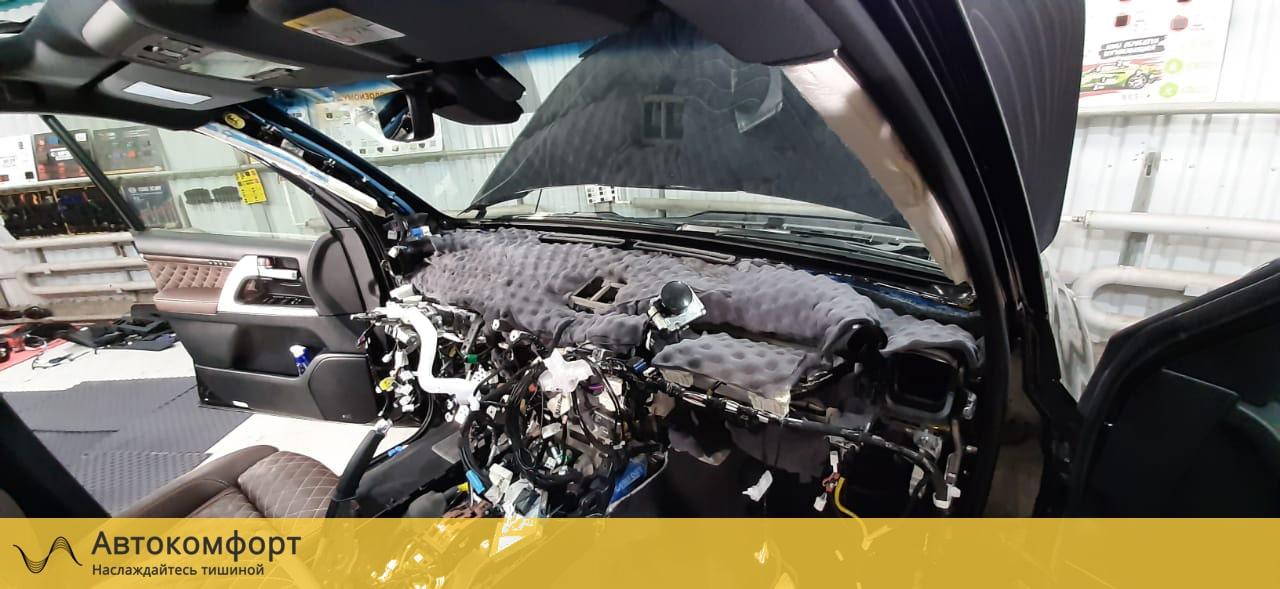 Шумоизоляция моторного щита Toyota Land Cruiser 200