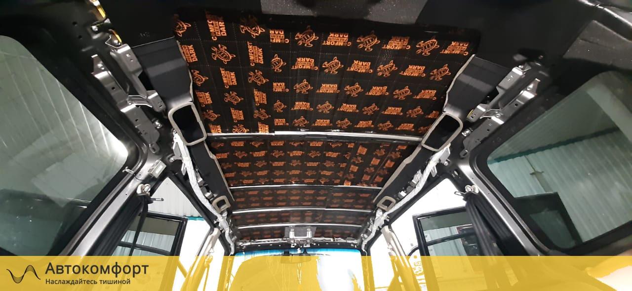 Шумоизоляция крыши Mitsubishi Pajero 4