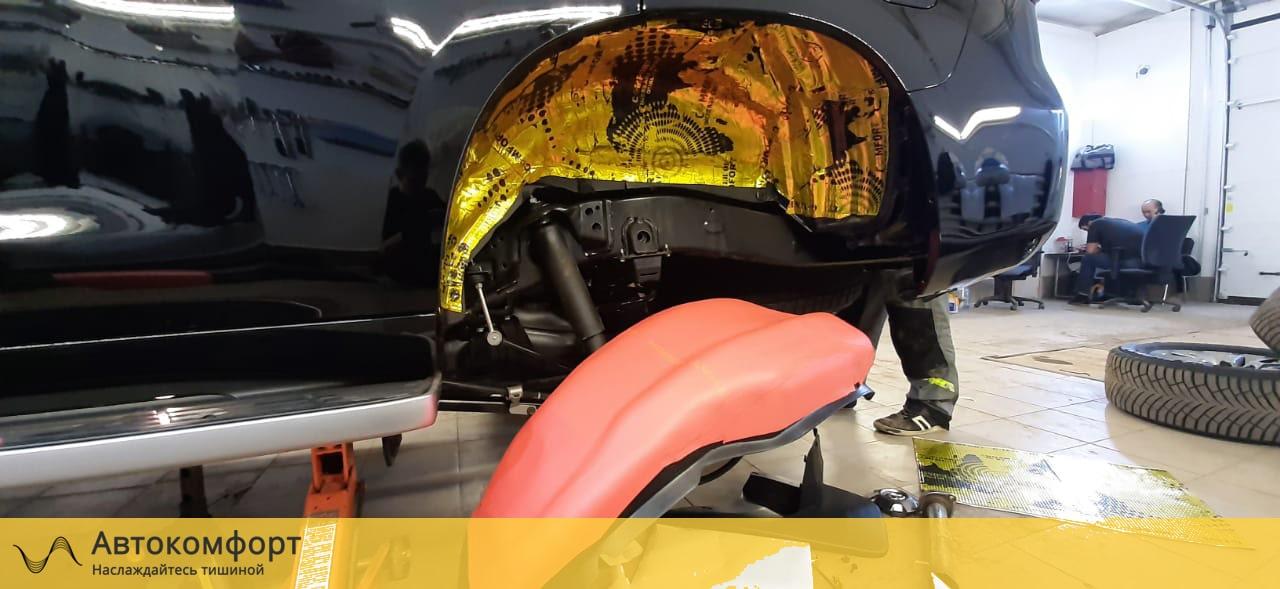 Шумоизоляция арок и подкрылок Mitsubishi Pajero 4