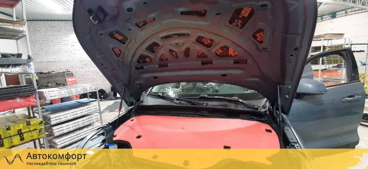Шумоизоляция капота Volvo XC40