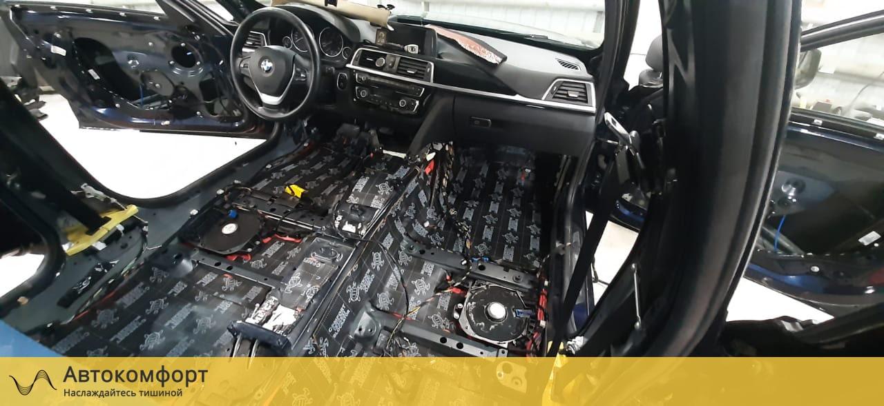Шумоизоляция пола BMW 3 F30 | F34 GT Gran Tourismo (БМВ Ф30 | 34 ГТ)