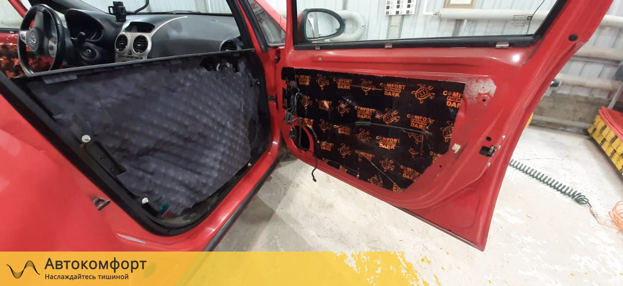 Шумоизоляция дверей Opel Corsa E  Опель Корса Е